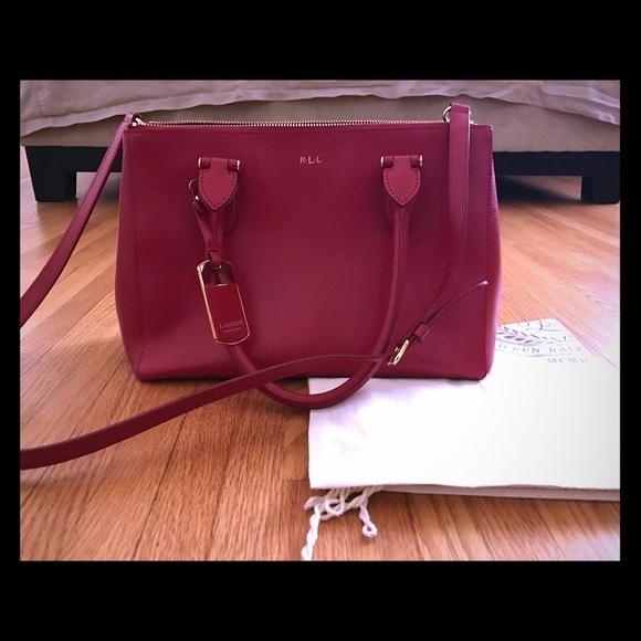 Ralph Lauren Newbury double zip satchel. M 5a6253288af1c5572b7aec63 8d254f1b74a72